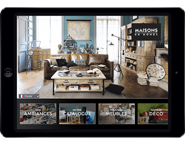 Application iPad Maisons du Monde par Prestimedia