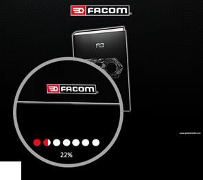 interface personnalisée du catalogue interactif Facom