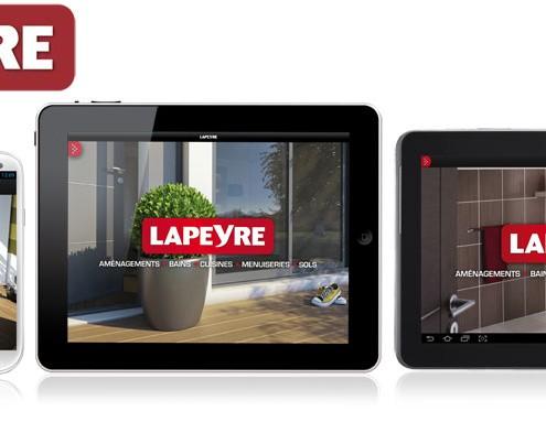 Applications iOs et Android Lapeyre par Prestimedia
