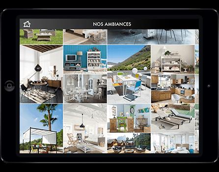 Application iPad Maisons du Monde réalisée par Prestimedia