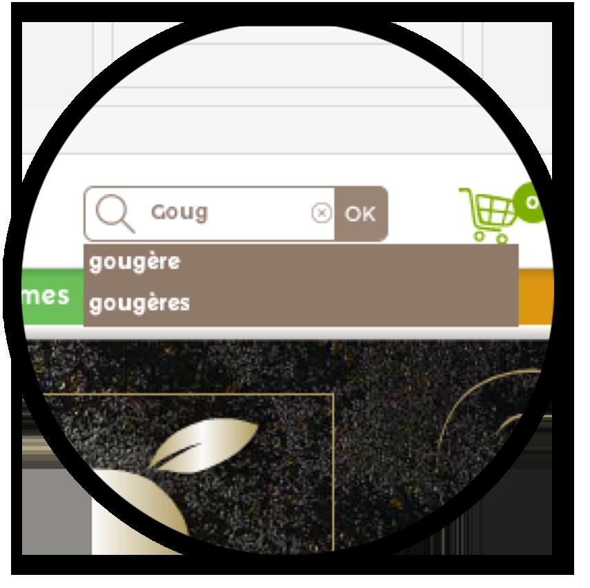 catalogue en ligne moteur de recherche prédictif
