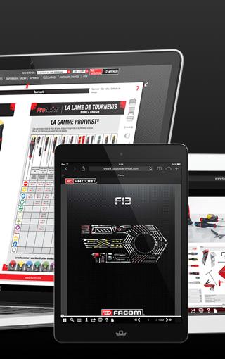 Prestimedia vous présente ses références de catalogues interactifs : exemple Facom