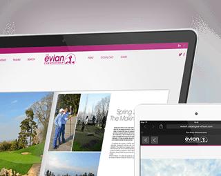 Prestimedia vous présente ses références de catalogues interactifs : exemple Evian