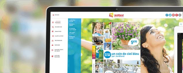 Prestimedia vous présente ses références de catalogues interactifs : exemple Jardiland