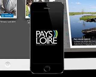 Prestimedia vous présente ses références de solutions digitales : exemple Application kiosque pour Pays de Loire