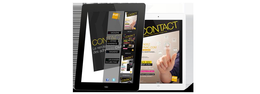 Prestimedia vous présente ses références de solutions digitales : exemple Application magazine Fnac