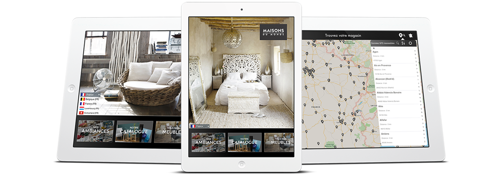 nouvelle version de l application ipad tendances de maisons du monde prestimedia. Black Bedroom Furniture Sets. Home Design Ideas
