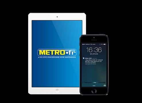 Prestimedia vous présente ses références de solutions digitales : exemple Application marchande Metro