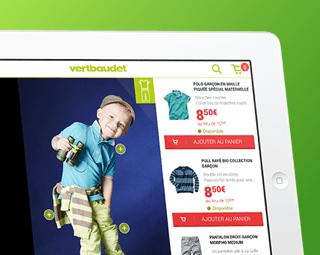 Prestimedia vous présente ses références de digital solution : exemple App iPad vertbaudet